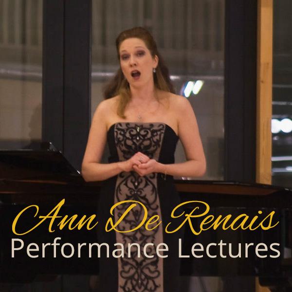 Ann De Renais Performance Lectures